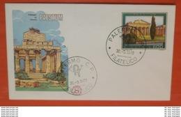 ITALIEN 1602 Tourismus - Paestum --- FDC Cover (2 Foto)(71942) - 1946-.. République