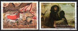 France 2019 Lascaux Courbet YT 5318 5333 Oblitérés - Frankrijk