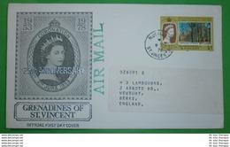 St. VINCENT GRENADINEN - FDC - Brief Letter Lettre 信 Lettera Carta пи�?ьмо Brev 手紙 จดหมาย Cover Envelope (2 Foto)(33792) - St.Vincent E Grenadine