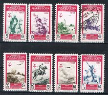 Serie Completa Aerea MARRUECOS Español Colonia 1953, Edifil Num 374-381 */º - Marocco Spagnolo