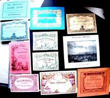 PEDAGOGIE ENSEIGNEMENT 11 BILLETS D'HONNEUR VERS 1900 CERTAINS GAUFRES - Diplomas Y Calificaciones Escolares