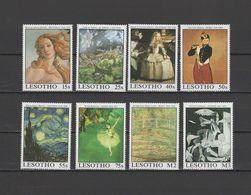 Lesotho 1988 Paintings Vincent Van Gogh, Botticelli, El Greco, Degas, Picasso Etc. Set Of 8 MNH - Altri