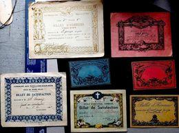 PEDAGOGIE ENSEIGNEMENT 7 BILLETS D'HONNEUR VERS 1900 - Diplomas Y Calificaciones Escolares