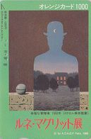 Carte Orange JAPON - PEINTURE BELGIQUE - RENE MAGRITTE - JAPAN PAINTING Prepaid JR Card / BELGIUM Rel - 1889 - Peinture