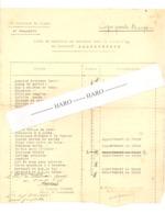 """Armée Belge - Liste De Mobilier Ayant Servi De Papier à Lettre - Verviers Bt """" Balgerhoeck - 1937 - Juslenville (theux) - Documents"""