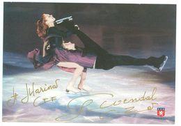 DANSE SUR GLACE - Marina ANISSINA Et Gwendal PEIZERAT ...Signature...Autographe Véritable... - Autografi