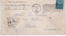 AMIENS- ENVELOPPE DE USA WALHALLA POUR AMIENS 1940 --CENSURE FRANCAISE 0UVERT AUTORITE BA 34 - Francia