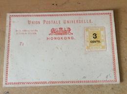 Entiers Postaux De Hong-Kong Vierge Et Son Enveloppe Transparente. - Enteros Postales