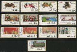 ESPAÑA-SPAIN ATMS 13 Valores Mínimos En Euros Anchos - Variedades & Curiosidades