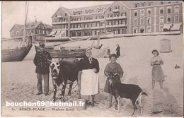 62 Berck-Plage - Madame Gentil Gendarme Douanier Vache Chevre Goat Barque RARE - Berck