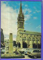Carte Postale 22. Saint-Cast L'église Et Monument Aux Morts  GS Citroën  Très Beau Plan - Saint-Cast-le-Guildo