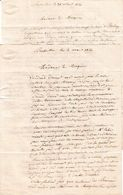 1841 BERSAILLIN (39) 2 Lettres à Mme La Marquise De BALAY En Son Hôtel à DOLE (du Jura) - Documents Historiques