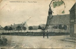 CPA - YERMENONVILLE - PLACE DE L'EGLISE - Altri Comuni