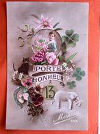 CPA. Fantaisie. Porte Bonheur.  Chiffre13.   (Q.086) - Fantasia