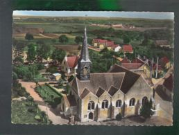 CP (45) En Avion Au Dessus De ...  Amilly - Eglise - Altri Comuni