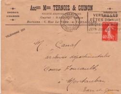 FRANCE : 1927 - Lettre Commerciale De Versailles Pour Montauban - Semeuse - France