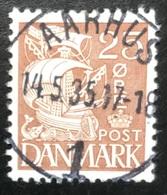 Danmark - D1/14 - 1934-1939 - (°)used - Zeilschip - Aarhus - 1913-47 (Christian X)