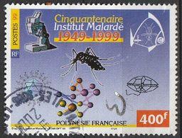 Polynésie Française 1999 N° 601 50e Anniversaire De L'Institut Louis Malarde, Pour La Recherche En Santé Publique (G6) - Gebraucht