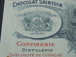 FACTURE - 18 - DEPARTEMENT DU CHER - ORLEANS 1910 - CHOCOLAT SAINTOIN : MAISON SAINTON FRERES - DECO - France
