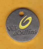 Jeton De Caddie En Métal - Ville D'Oullins (69) - Munten Van Winkelkarretjes