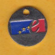 Jeton De Caddie En Métal - Conseil De L'Europe - Revers Pièce De 10 Francs - Munten Van Winkelkarretjes