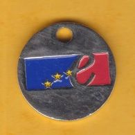 Jeton De Caddie En Métal - Conseil De L'Europe - Revers Pièce De 1 Euro - Trolley Token/Shopping Trolley Chip