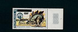 Benin Overprint On Dahomey Dinosaur Stegosaurus MNH ** RARE ! Surcharge 2009 - Benin - Dahomey (1960-...)