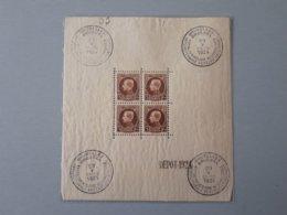 Timbres Belgique : 4 Oblitération Premier Jour 1924 COB Bloc 1 NEUF ** & - Blocks & Sheetlets 1924-1960