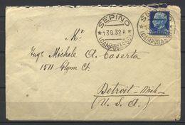 Regno, 1932, Sepino (CB - Molise), Su 1,25 Imperiale Per Detroit (U.S.A.), 13-8-32 - Storia Postale
