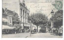 CPA 17200 ROYAN  :  Le Tram  à L'arrêt Au Niveau Ddes Nouvelles Galeries Bd Botton  1918 - Royan