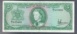 Trinidad & Tobago 5 $1964 P#27c Bb/spl Lotto.3272 - Trinité & Tobago