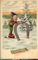Bonne Année = Lutin Avec Fer à Cheval + Coccinelles - New Year