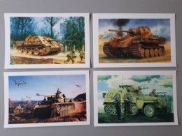 Carte : Les Blindés Allemands De La Deuxième Guerre Mondiale Panther,Jagdpanther  & - 1939-45