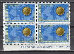 Soccer / Football / Fussball - WM 1954 :  Schweiz MiNr 596 Vbl ** - 1966 – England