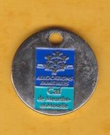 Jeton De Caddie En Métal - Allocations Familiales - CAF De Meurthe-et-Moselle (54) - Munten Van Winkelkarretjes