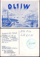 QSL DL1IW Husum, Alemania To LU1ZG Antartida Argentina - 19/10/1966 - Cygnus - Radio