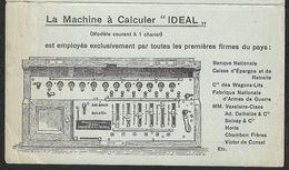 """1910 BELGIQUE - PREOB. 1C - IMPRIMÉ  PUBLICITÉ MACHINE A CALCULER - """"TIME IS MONEY""""  DES CALCULE LES PLUS EXTRAORDINAIRE - 1893-1907 Armoiries"""