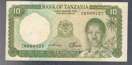 TANZANIA 10 SHILINGI 1966 Pick#2c Q.SPL  LOTTO.3273 - Tanzanie