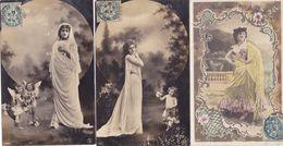 Lot 3 Cpa -fant- Femme- 2 Cpa Reutlinger 1361 Et 1 1015 - Mujeres