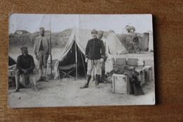 Carte  Photo  Tirailleurs Sénégalais  Avec Sous   Officier  1914 1918 - Guerra, Militares