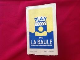 1953, PLAN DE LA BAULE - Geographical Maps