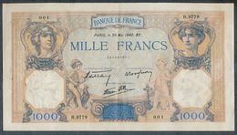 1000 Francs 30/05/1940 SUP+ !!! - 1 000 F 1927-1940 ''Cérès E Mercure''