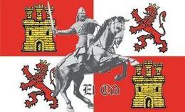 Bandera Reino De Castilla Y León. El Cid Campeador. España - Drapeaux