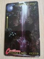 MONTSERRAT  $10,-  WATERFALL  MON-3A 3CMTA    FINE USED CARD     ** 1290 ** - Montserrat
