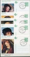 1975 - 5 Briefkaarten BK2/BK6 Gestempeld THEMABELGA Brussel 13/12/75 - COB/OPB Cote 1.50 Euro - Schilderijen Paintings - Postales [1951-..]