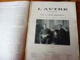 L'AUTRE (origine-> L'illustration Théâtrale, Daté 1908 ) -   Portraits De Paul Et Victor Margueritte - Auteurs Français