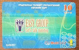 MONGOLIE MOBI CARD EASY GROUP RECHARGE GSM PRÉPAYÉE PREPAID PAS TÉLÉCARTE - Mongolia