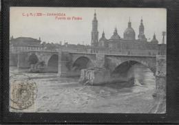 AK 0508  Zaragoza - Puente De Piedra Um 1912 - Ponts