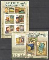 UC315 2009 UNION DES COMORES ART VINCENT VAN GOGH 1KB+1BL MNH - Impressionisme