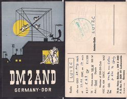 QSL DM2AND, Alemania Oriental To LU1ZC Antartida Argentina - 30/08/1966 - Cygnus - Radio